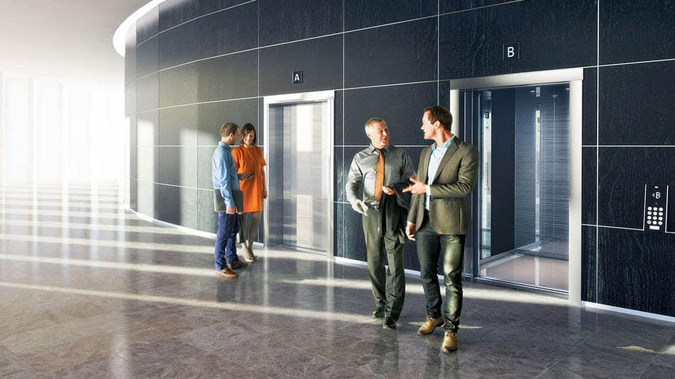 Versatile KONE elevator solutions complement your building's people flow.